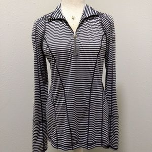 Zella Quarter Zip Pullover Shirt Blouse SZ M